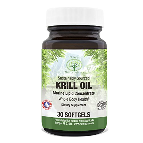 Krill Oil by Natural Nutra – Sustainable Omega 3 with Astaxanthin, Friend of the Sea, 500 mg, 30 Capsules