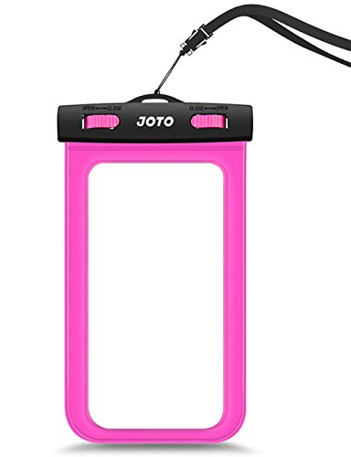 JOTO Universal Waterproof Case for Apple iPhone 6S, 6, 6S Plus, 5S, 5, Samsung Galaxy S6, Note 5, 4, HTC, LG, Sony, Nokia Lumia, MOTO, Nexus (Magenta)