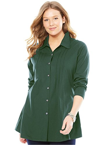 Pleated Button Front Shirt - 6