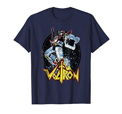 Voltron Retro Defender Colorful Fight Sword Graphic T-Shirt
