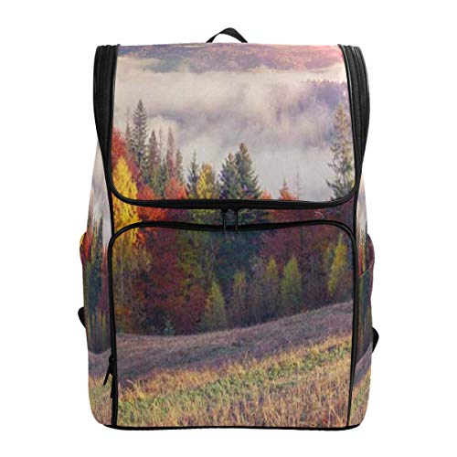 (Laptop Backpack Autumn Sunrise In The Mountains Fall Nature LandscapeGym Backpack for Men Large Vintage)