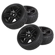 DN Pentagram Hub Wheel Rim&Tires HSP 1:10 On-Road RC Flat Racing Car 20111 (Pack Of 4)