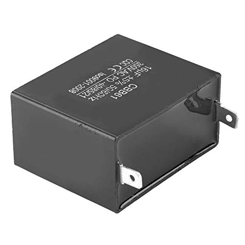 Acogedor CBB61 Generator Capacitor,Motor Running Starting Capacitor Generator 450V AC 16uF 50/60Hz Insulation,Low impedance, Explosion-prooffor,for Brushless Gas and Diesel Generators