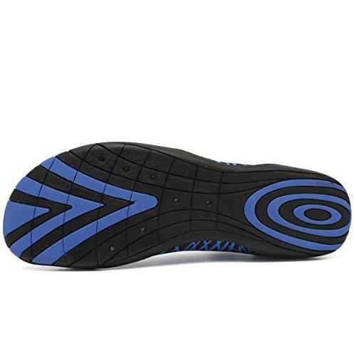 CIOR Multifunktionale Barfuß Schuhe Männer Frauen Quick-Dry Wasser Schuhe Aqua Socken Für Strand Pool Surf Yoga Dunkelblau