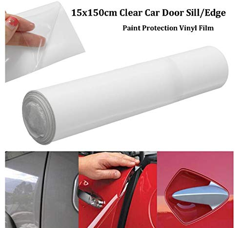 AdvancedShop 15x150cm Door Sill Edge Paint Protector Film Anti Scratch Clear Self Adhesive