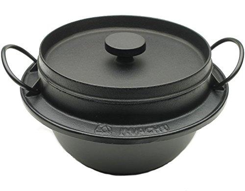 Cheap Iwachu 410-720 Japanese Cast Iron Gohan Nabe Rice Cooker, Black