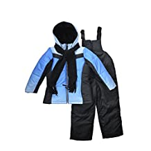 Snowsuits for Kids Girl's Ombre Dip Dye 3-Piece Snowsuit