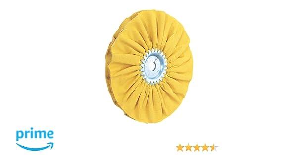 Woodstock D2516 8-Inch Bias Hard Buffing Wheel Yellow