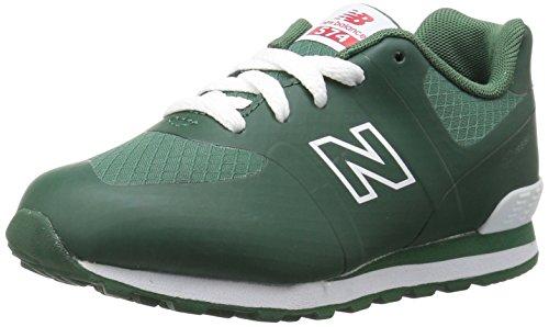 Green Boys Sneakers (New Balance Kids' 574v1 Sneaker, Hunter Green/White, 4 M US Big Kid)