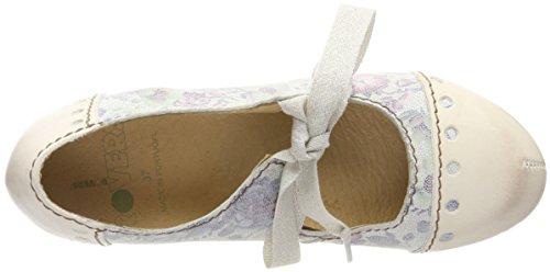 Zapatos con Rovers de Weiß para Nieve Mujer Blanco Punta Nieve Cerrada Tacón dtqqxwU