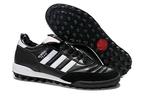Lissay Shoes Mens Football Soccer Mundial Team Astro Black Boots ()