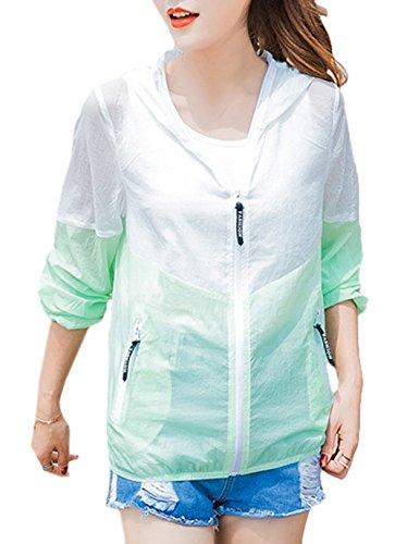 Bevalsaレディース フード付き 日焼け止め服 uvカット 薄手 ゆったり カジュアル 紫外線対策コート ビーチコート シンプル