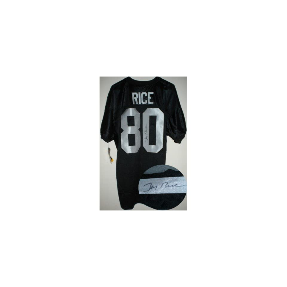 Jerry Rice Autographed/Hand Signed Auth. Oakland Raiders Jersey