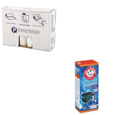 KITCHU3320084116IBSVALH4048N12 - Value Kit - Integrated Bagging Systems IBSVALH4048N12 Natural Can Liners, 11 Micron, 40 - 45 Gallons (IBSVALH4048N12) and Arm And Hammer Trash Can amp;amp; Dumpster Deodorizer (CHU3320084116)