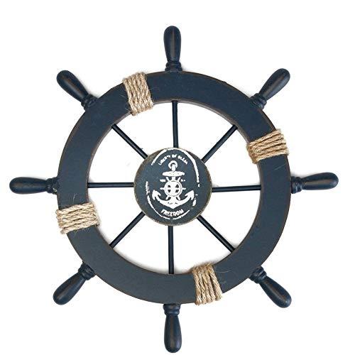 WEBI Nautical Decor Ship Wheel Steering Wheel Decor for Bathroom,Bedroom,Club,Cafe~Gift for Beach Theme Party Decorations, Beach Wedding Decorations,Nautical Wall Decor.Original Style Wheel -