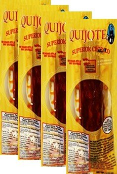 Chorizo Superior Quijote. 11.5 oz Oz. 4 Pack by Quijote