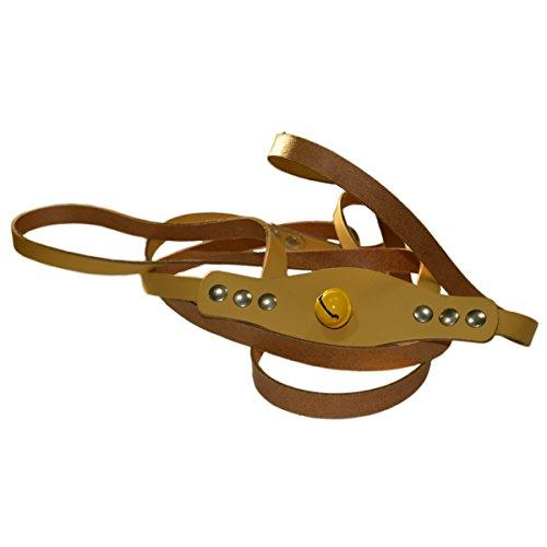 Pferdchen Spiele - Pferdeleine Pferdegeschirr aus Leder mit Glöckchen zum Spielen für Kinder