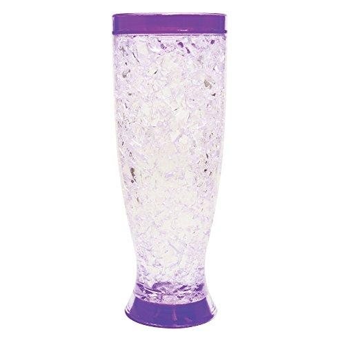 - Mug Double Wall Gel Freezer Mug -16 oz Insulated Freezer Pilsner Seer Mug with Freezing Gel (Purple)