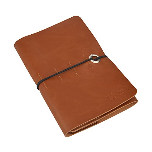 LENMO Leather Journal Writing Notebook Vintage Handmade Leather Journal Notebook Refillable Retro Leather Cover Notebook Notepad Jotter Diary Journal Workbook (Coffee) - Leather Bible Cover Custom