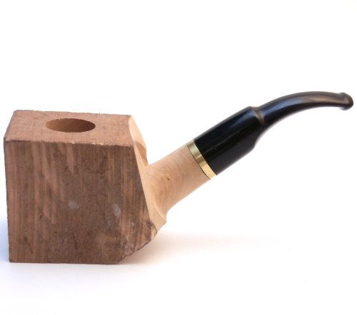 - Tobacco Pipe Briar Wood Block - Pre Drilled