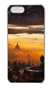 iPhone 5/5s Case, Personalized Protective Buddhism Case for iPhone 5/5S PC Clear Phone Cover