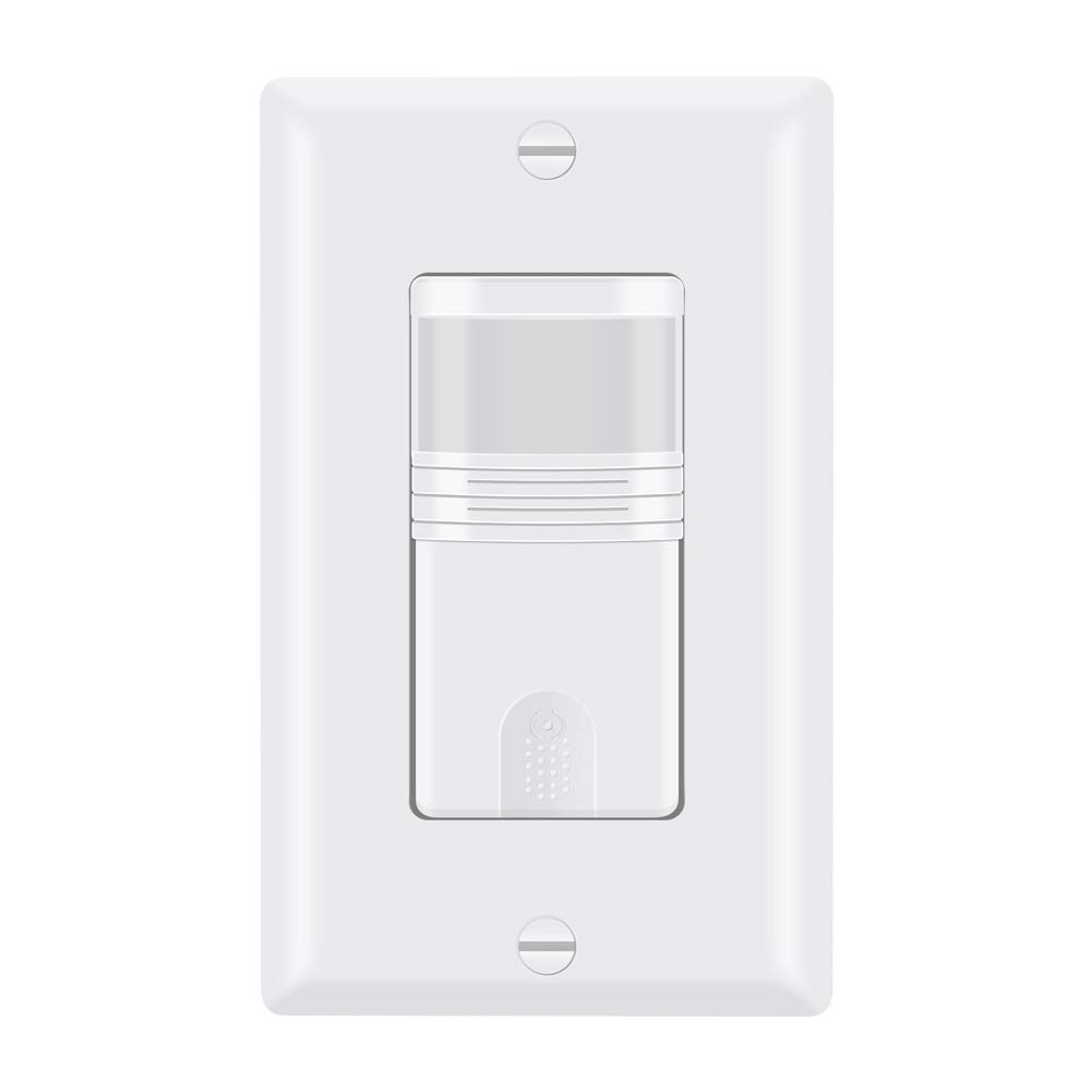 ECOELER Vacancy & Occupancy in Wall Sensor Switch, White Motion Sensor Switch Single Pole for Indoor