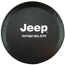 "SpareCover abc-j-wrangler-32 ABC Series Black 32"" Tire Cover with Jeep Wrangler Design"