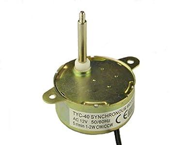 TYC-40 12V AC Synchronous Motor 5RPM Shaft 3.5CM Torque 0.5Kg.cm