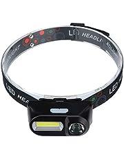 Weite Lanterna de LED portátil, ajustável, leve, 6 modos de iluminação, capacete alimentado por bateria para atividades ao ar livre, acampamento, corrida, caminhada, leitura e mais