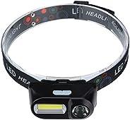 Weite Lanterna de LED portátil, ajustável, leve, 6 modos de iluminação, capacete alimentado por bateria para a