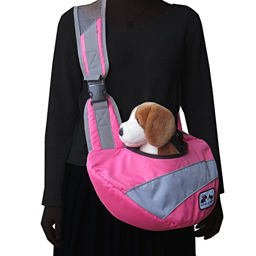 Alfie Pet by Petoga Couture - Marley Pet Sling Carrier with Adjustable Strap - Color Pink, Size: Large