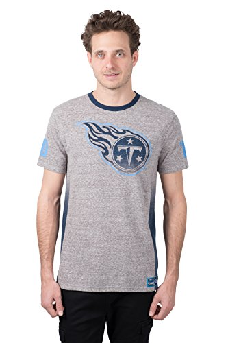 (ICER Brands Adult Men T Vintage Ringer Short Sleeve Tee Shirt, Gray, Large)