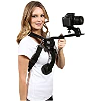 Cam Caddie Scorpion EX Hands Free Shoulder Support Rig / Mount Compatible with Canon, Nikon, Sony, Panasonic / Lumix Style DSLR Camcorder or Video Camera Includes: iPhone + GoPro Mount