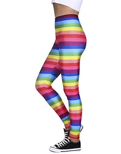 Women's Leggings Graphic Print Tights Fun Digital Design Holiday Elastic -