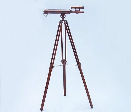 Floor Standing Antique Copper Griffith Astro Telescope 45'' - Nautical Telescope