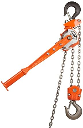"""CM 2302 Rigger Lever Operated Hoist, 15.375"""" Lever, 1-1/2 ton Capacity, 5' Lift Height, 1-1/32"""" Opening"""