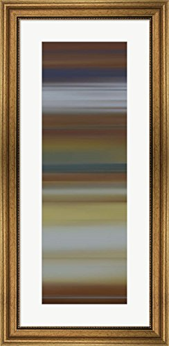 Great Art Now Alchemy II by James McMaster Framed Art Print Wall Picture, Wide Gold Frame, 17 x 35 - Alchemy New Bronze
