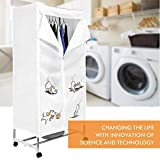Rapesee 1000W Portable Home Electric Clothes Dryer, Dual Deck Dry Wardrobe Hot Air Machine, Laundry Drying Rack Energy Saving, 15kg Capacity with 4 Wheels, Comply with ETL Security Certification