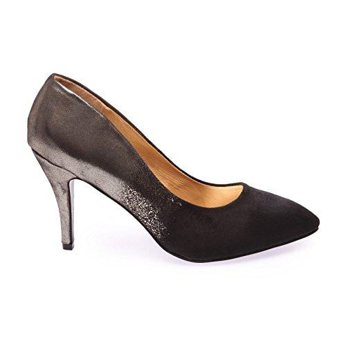 Piel Negro La En De Modeuse Con Punta Orificio zapato Imitación Cocina vpwzwUxBcq