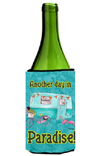 Another Day In Paradise Wine Bottle Koozie made our list of Inspirational And Funny Camping Quotes