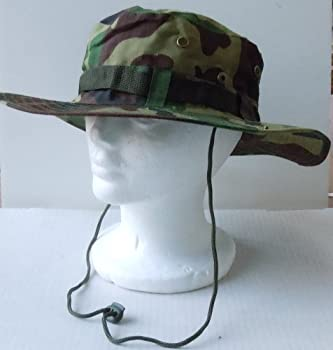 Clearance Army Green Camouflage Jungle Bucket Hat with Chin Cord -