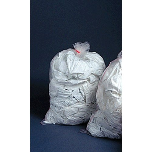 Collection Bag, 36'' x 39'', Heavy Duty, Hot Water Soluble, Clear 100 pk