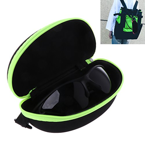 YDZN Portable Zipper Sunglasses Case,,Eye Glasses Eyewear Shell Hard Protector Storage Box Bag(Color - Bans Ray Cyber Monday