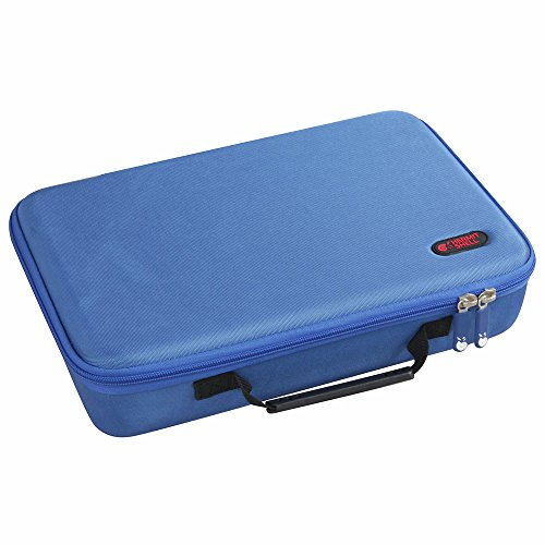 Hermitshell Extra Large Hard EVA Travel Case for C. A. H. Card Game, Fits the Main Game Space for 1950 Cards. – Card Game Sold Separately. Blue
