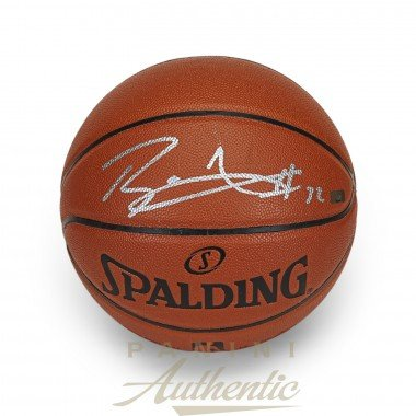 Image Unavailable. Image not available for. Color  BLAKE GRIFFIN Autographed  In Silver Spalding Replica Basketball PANINI 16e186afc