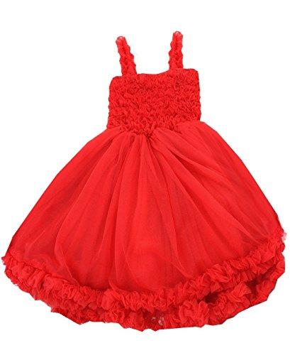 Baby/Toddler Girls Ruffled Princess Pettiskirt Costume Flower Girl Birthday Dress