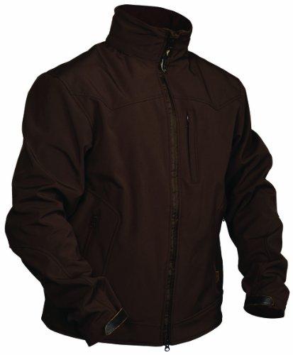 Gun Shell - STS Ranchwear Men's Young Gun Softshell Jacket (Brown, Small)