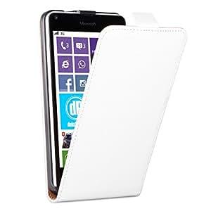 Microsoft Lumia 640 diseño funda de piel con blanco