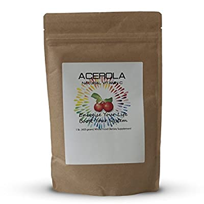 Acerola Cherry Powder Vitamin C (1lb) - The Ultimate Vitamin C Health Food 17% Vitamin C