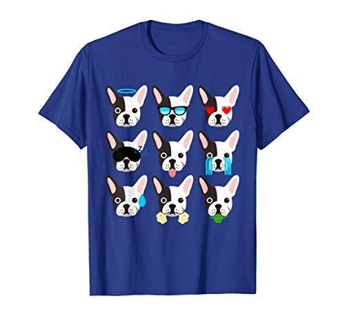 Terrier Face Boston - Emoji Boston Terrier Dog Face T-Shirt Funny